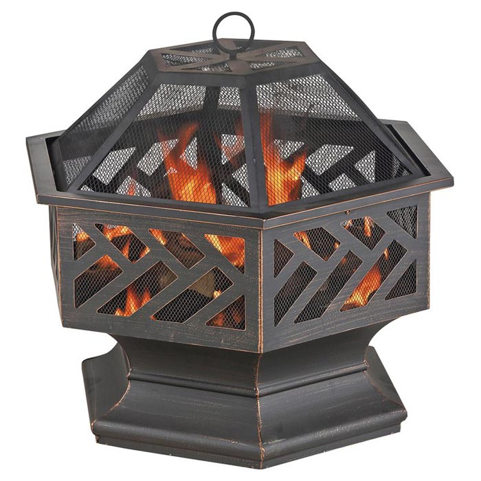Uniflame Wood Burning Outdoor Fire Pit
