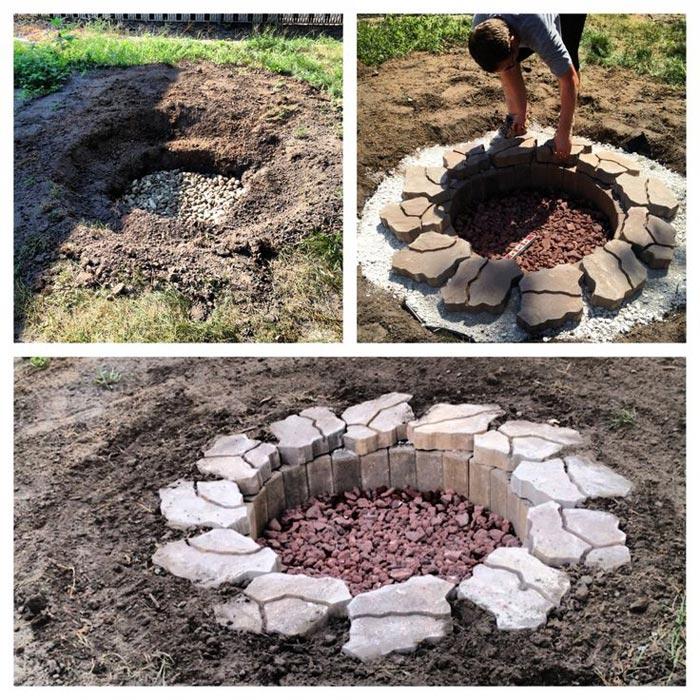 Build Inground Fire Pit