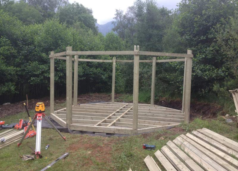Building An Octagonal Gazebo