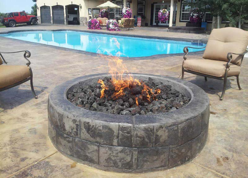 Gas Fire Pit Inserts Outdoor