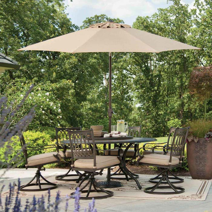 Iron Patio Set With Umbrella