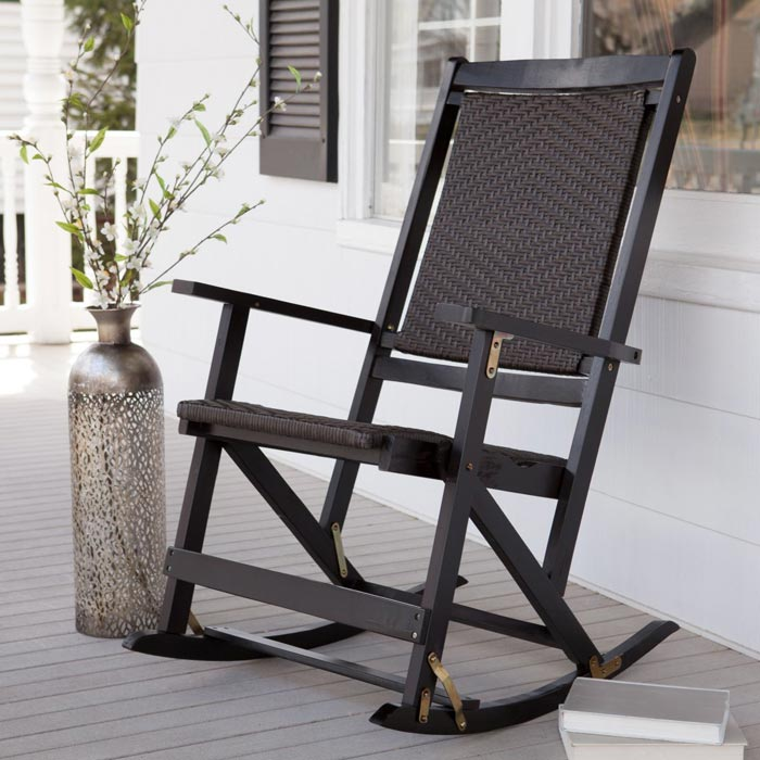 Folding outdoor rocking chairs
