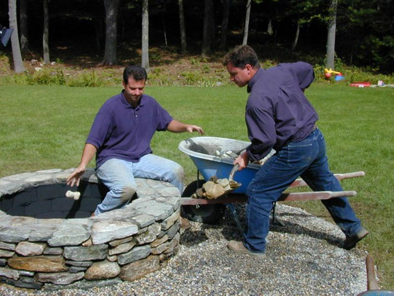 Building A Fire Pit With Natural Rocks