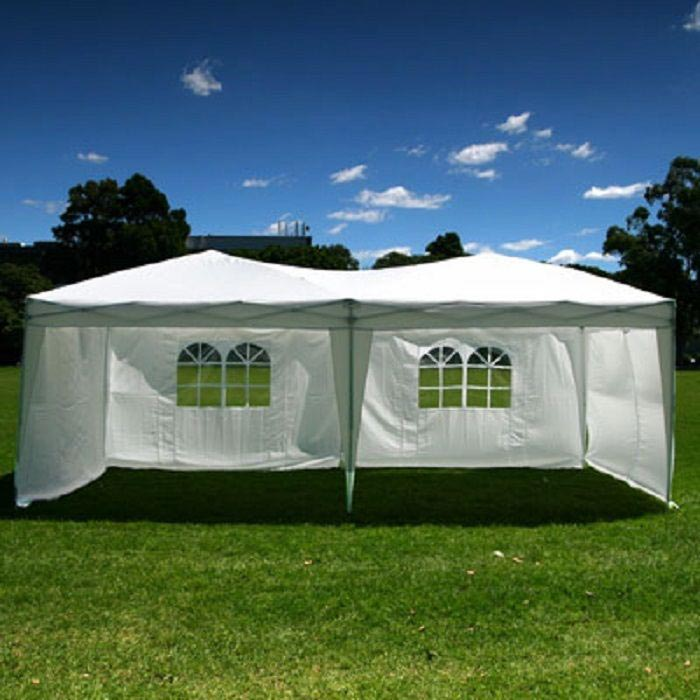3m x 6m pop up gazebo with sides