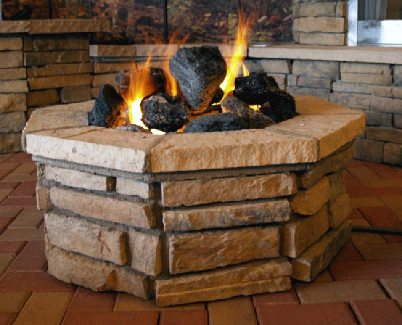 Fire Pit With Lava Rocks