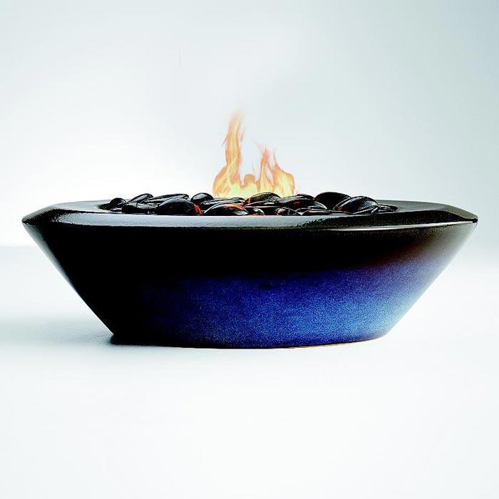 Ceramic fire pit bowl