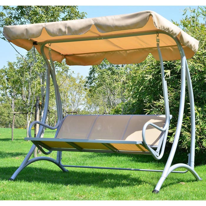 3 Person Patio Swing With Canopy: Simple Yet Elegant Models
