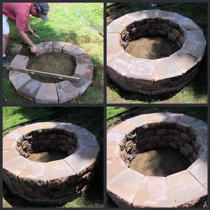 Building A Paver Fire Pit