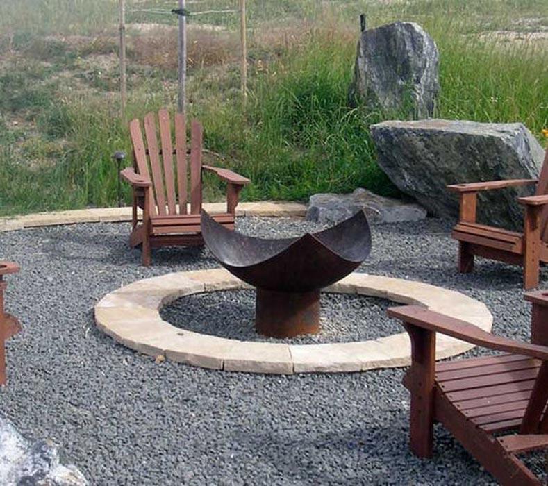 Fire Pit Design Pea Gravel