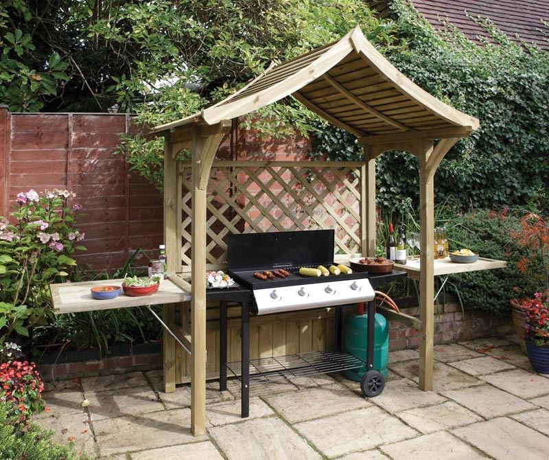 Barbecue gazebo grill