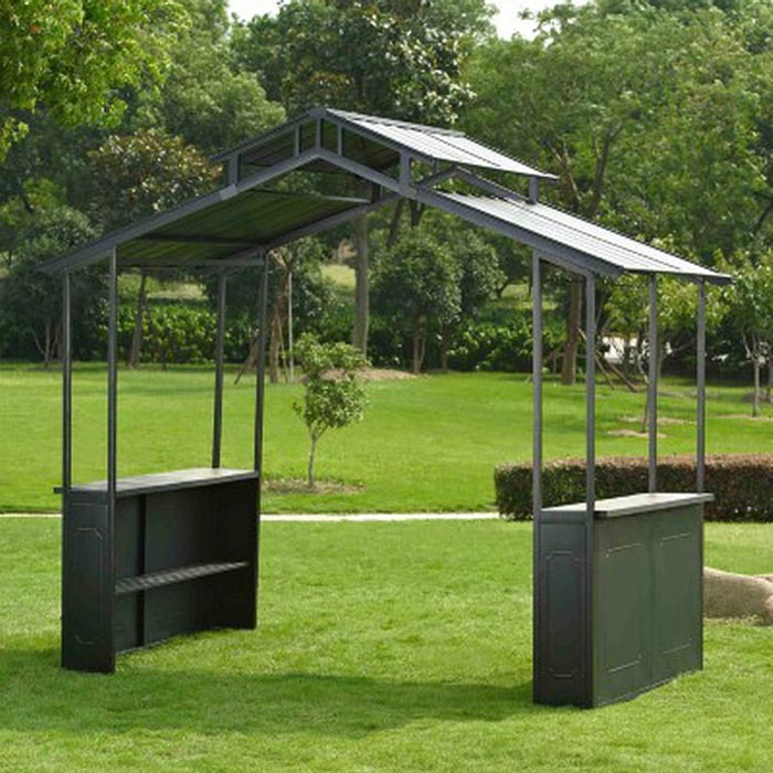 Barbecue gazebo hard top