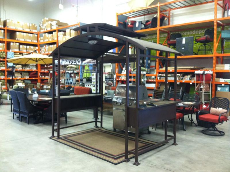 Barbecue gazebo home depot
