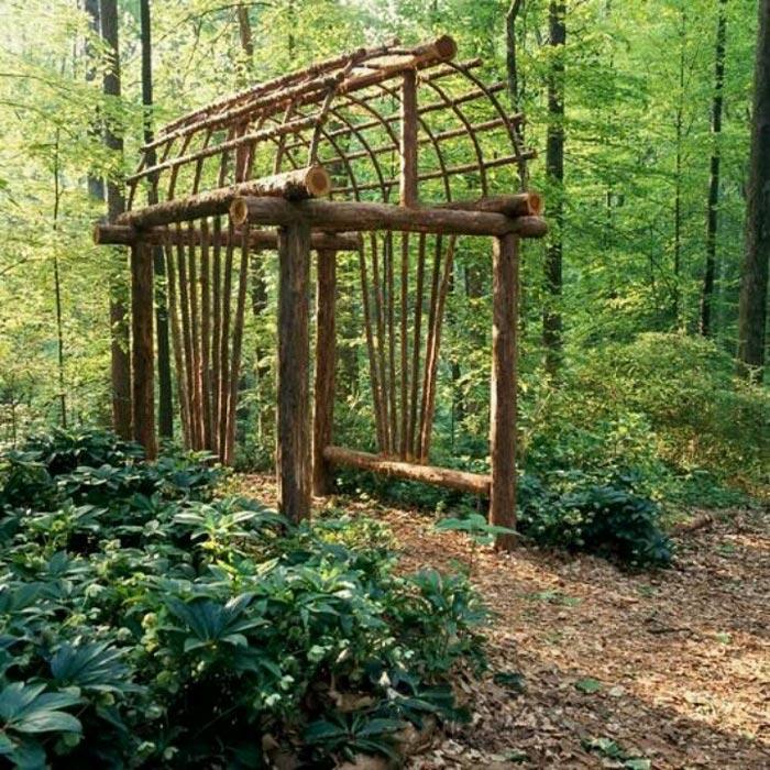 Build rustic pergola
