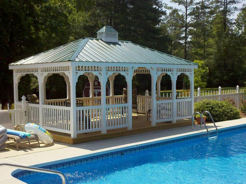Permanent gazebo roof