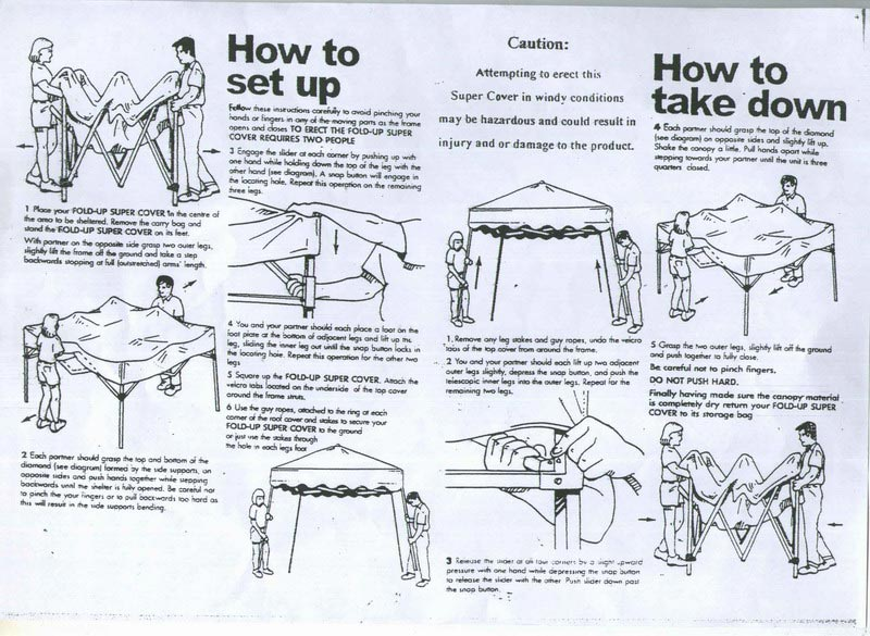 Camping gazebo instructions