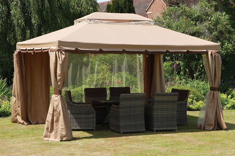 10 x 10 gazebo with curtains