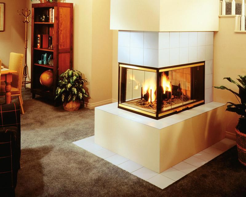 36 Double Sided Gas Fireplace
