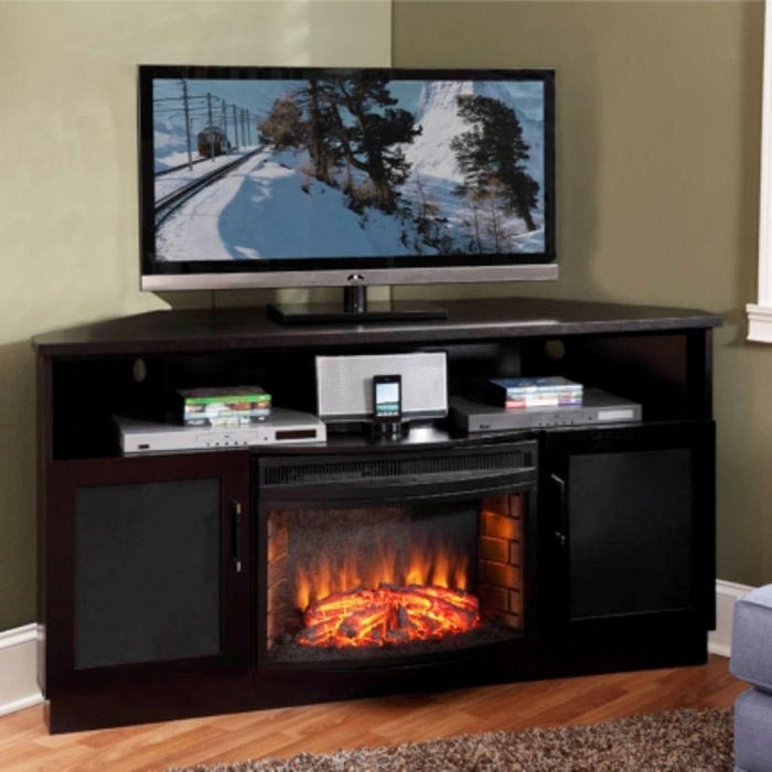 Corner Electric Fireplace Tv Stand 2