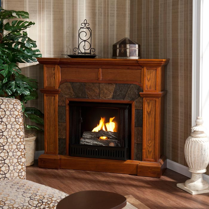 Corner Electric Fireplace Tv Stand 42