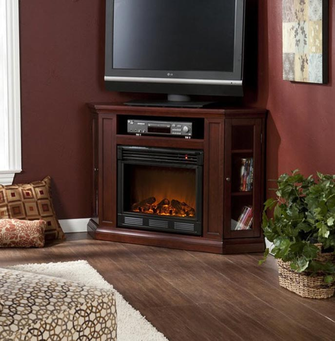 Corner Electric Fireplace Tv Stand 56