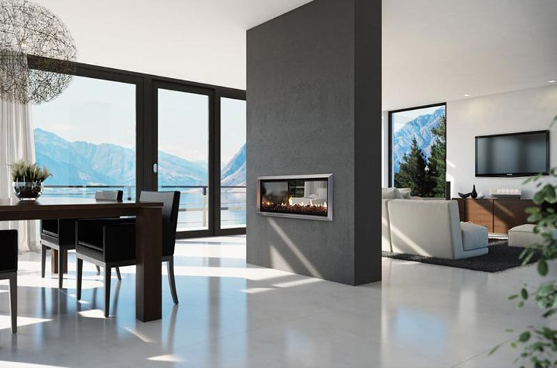 Double Sided Gas Fireplace 2