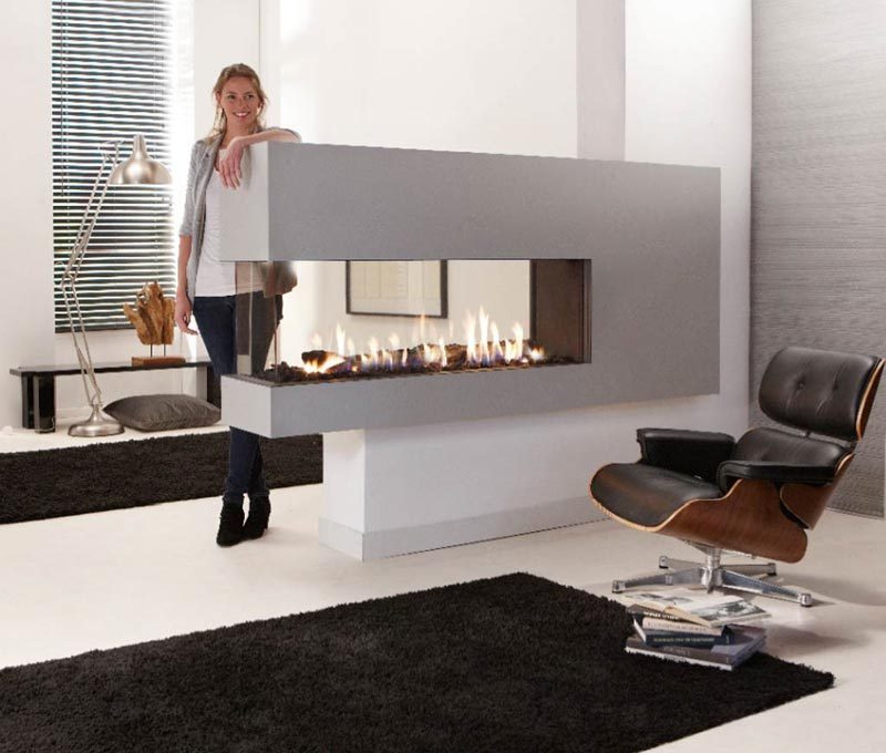 Double Sided Gas Fireplace Blower