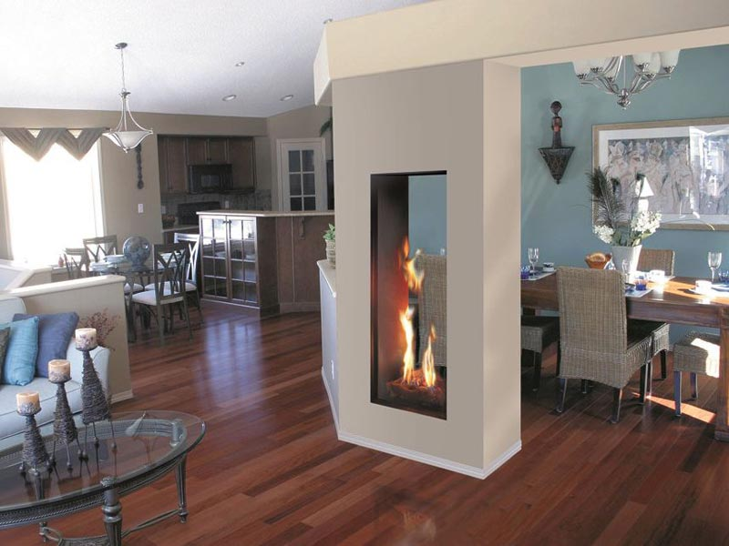Double Sided Gas Fireplace Designs