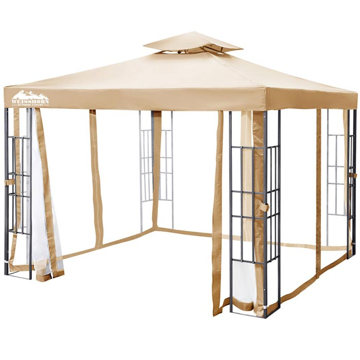 Metal frame gazebo cover