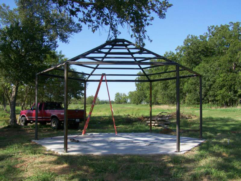 Metal frame gazebo