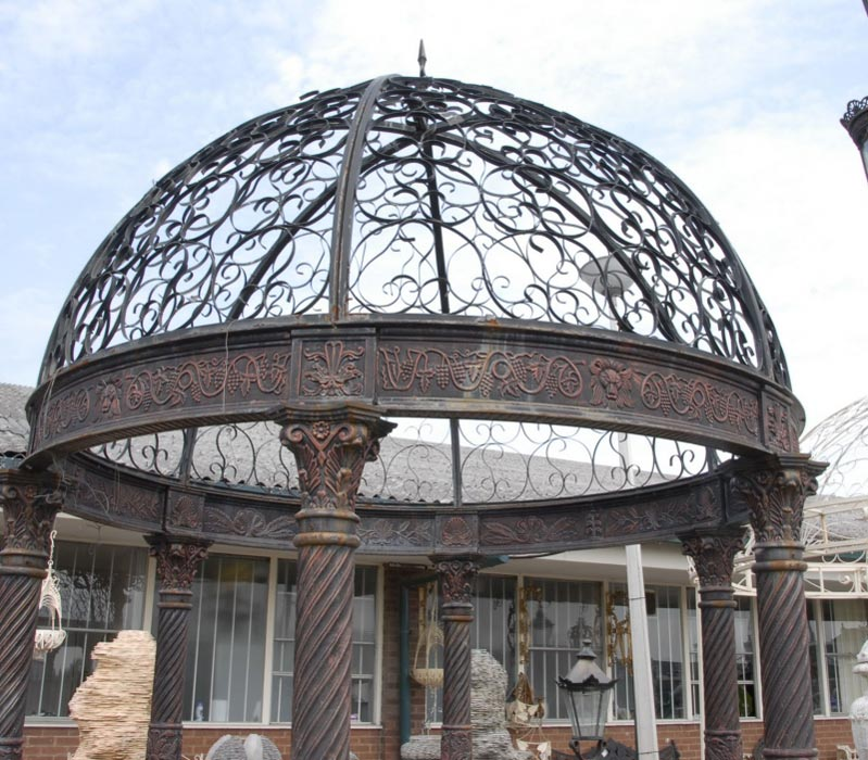 Victorian gazebo wrought iron