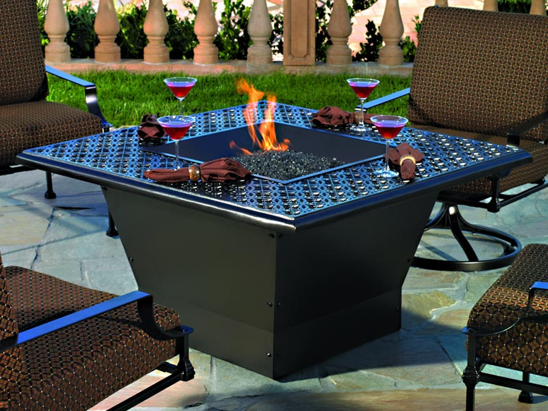 Iron Fire Pit Table