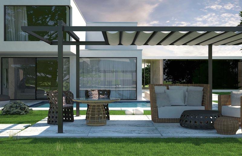 Architectural steel pergolas