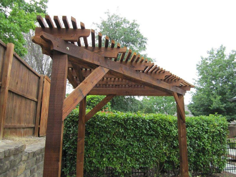 Triangle pergola designs