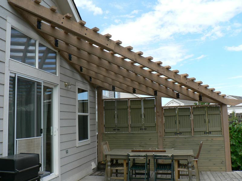 Triangle pergola ideas