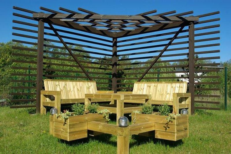Triangle pergola pictures