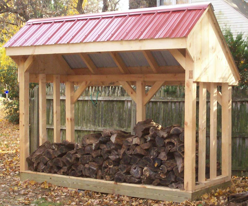 Covered firewood storage plans