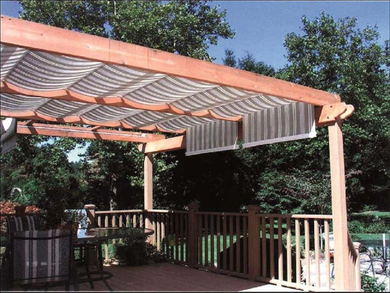 Diy retractable shade for pergola
