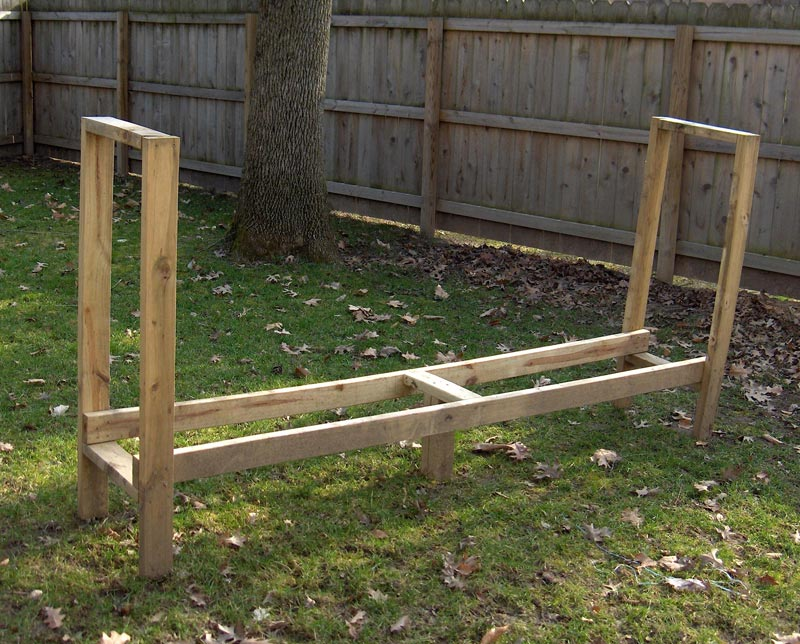 Firewood storage bench plans