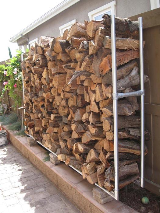 Firewood storage rack—building plans