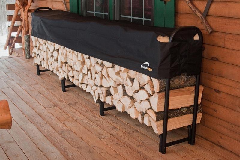 Firewood storage rack plans