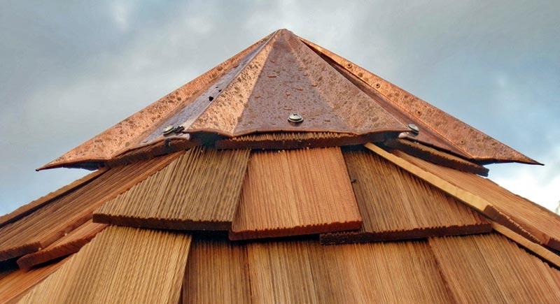 Gazebo roof cap