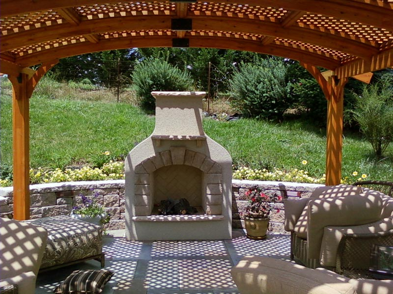 Fire Pit With Pergola