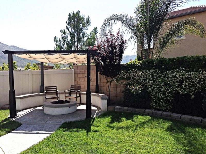 Outdoor Fire Pit And Pergola