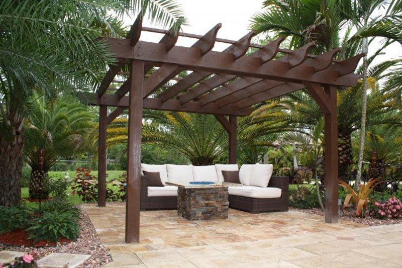 Pergola With Fire Pit 2