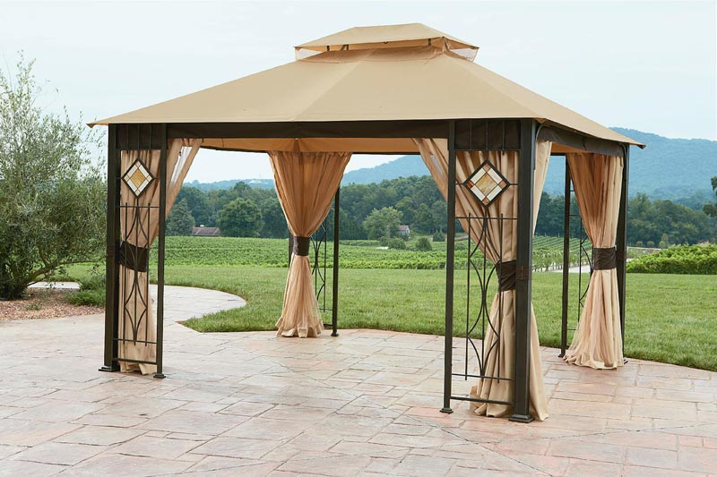 Art glass gazebo