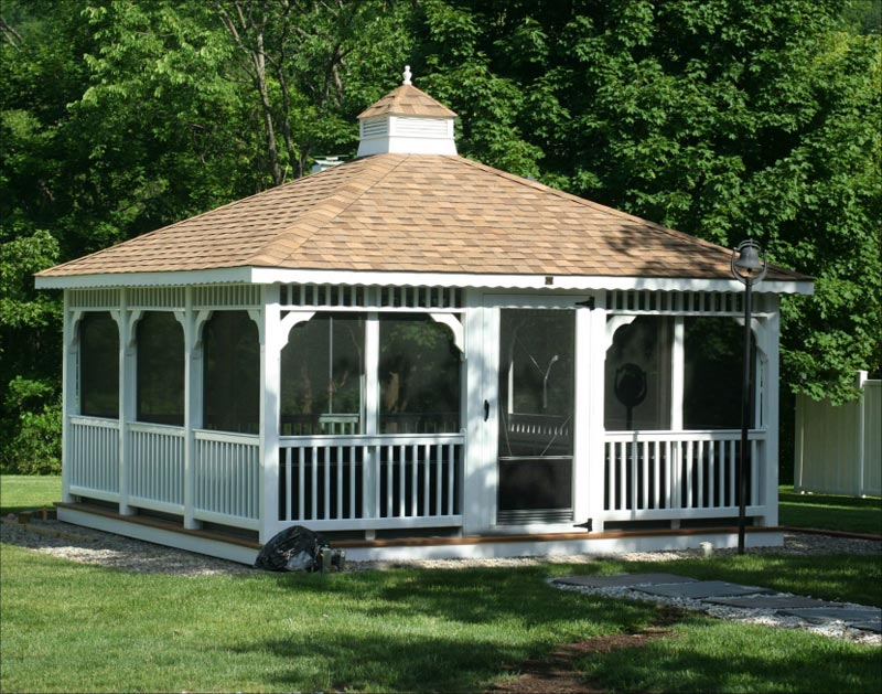 Glass enclosed gazebo