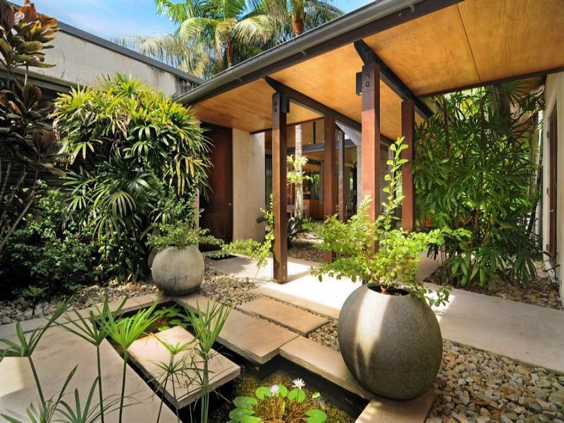 Modern garden gazebo
