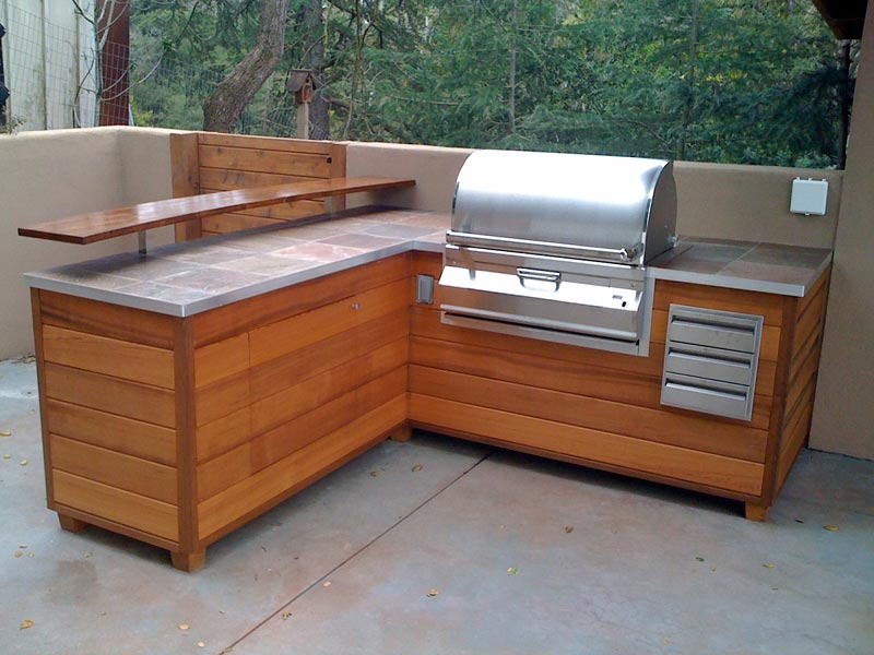 Outdoor bbq area design