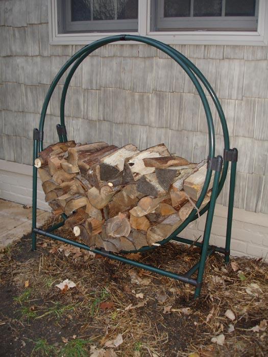 Outdoor firewood holder plans