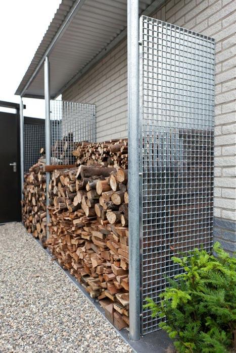 Outdoor firewood holder rack